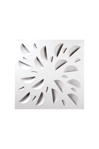 NEX-S Architectural High Induction Swirl Diffuser, White Concave Elements