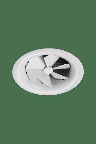 AX6 Aluminium Adjustable Round Swirl Diffuser