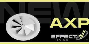 New AXP Fixed Round Swirl Diffuser