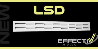 New LSD High Induction Linear Sectored Slot Diffusers
