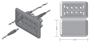 EB-SP8 Eight Connector Panel for EB2 Cable-Operated Damper