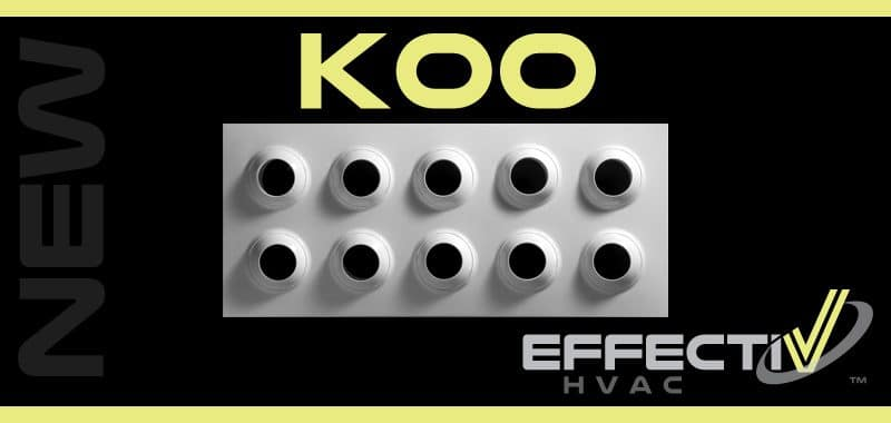 Adjustable Multi Jet Nozzle Panel Diffuser KOO