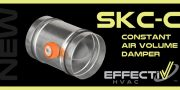 New Product SKC-C Constant Air Volume Damper For Circular Duct
