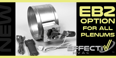 EB2 Cable-Operated Damper Option Now Available With Most Plenums