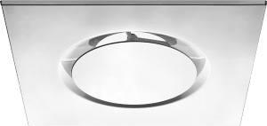 DSO Architectural Aluminum Round Plaque Diffuser in Square Panel for False Ceiling Installation