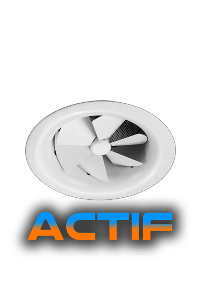 AX6-ACTIF Round Swirl Thermal Diffuser