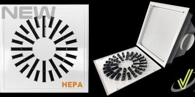 New High Induction Swirl Diffuser with HEPA Filter AXO-HEPA