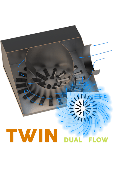 AXO-TWIN Dual Flow High Induction Diffuser for VAV Systems