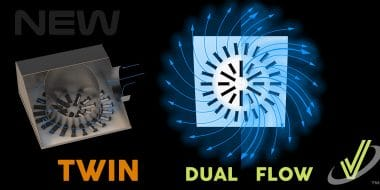 New AXO-TWIN Dual Flow High Induction Diffuser for VAV Systems