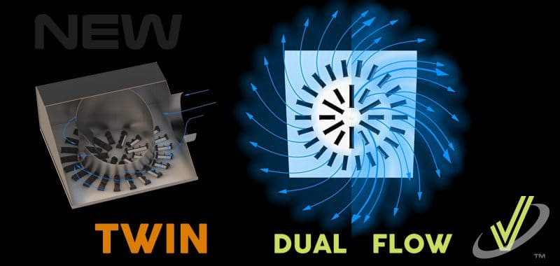 New Dual Flow High Induction Swirl Diffuser for VAV Systems AXO-TWIN